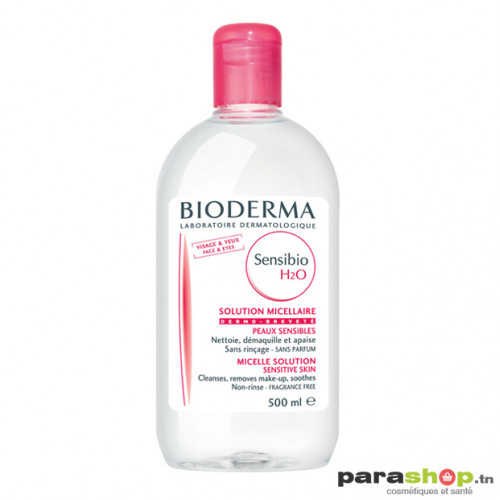 BIODERMA SENSIBIO H2O SOLUTION MICELLAIRE PEAUX SENSIBLES TRES SECHES  500ML