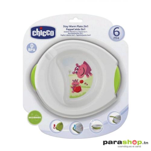 CHICCO Assiette Maintien au Chaud 2en1