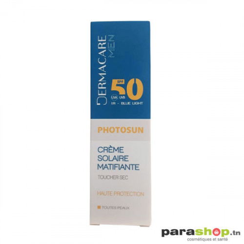 DERMACARE PHOTOSUN MEN Crème Matifiante Toucher Sec SPF50+