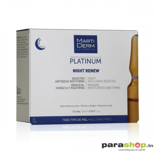MARTIDERM PLATINUM NIGHT RENEW 10 AMPOULES