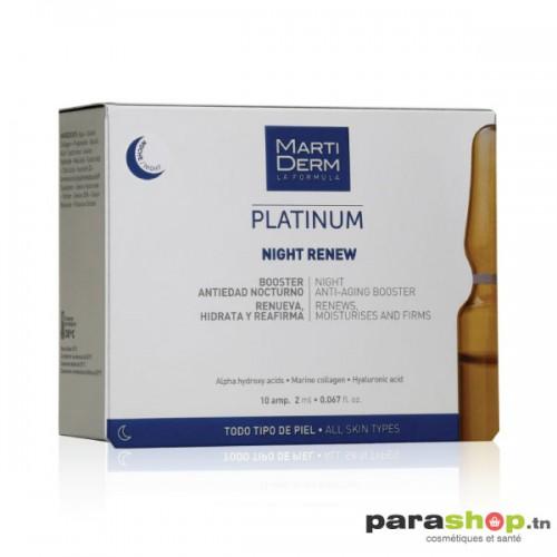 MARTIDERM PLATINUM NIGHT RENEW 10 AMPOULES