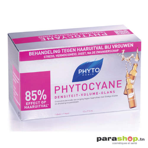 PHYTO PHYTOCYANE TRAITEMENT ANTICHUTE REDENSIFIANT 12 X 7.5ML